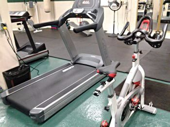 commercial fitness equipment at Contra Costa College